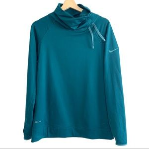 Nike Dry-Fit Oversized Collar Turquoise Top